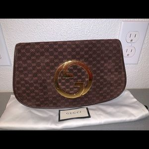 Authentic Gucci supreme Blondie clutch gg print